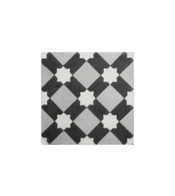 Echantillon carreaux ciment étoile blanche