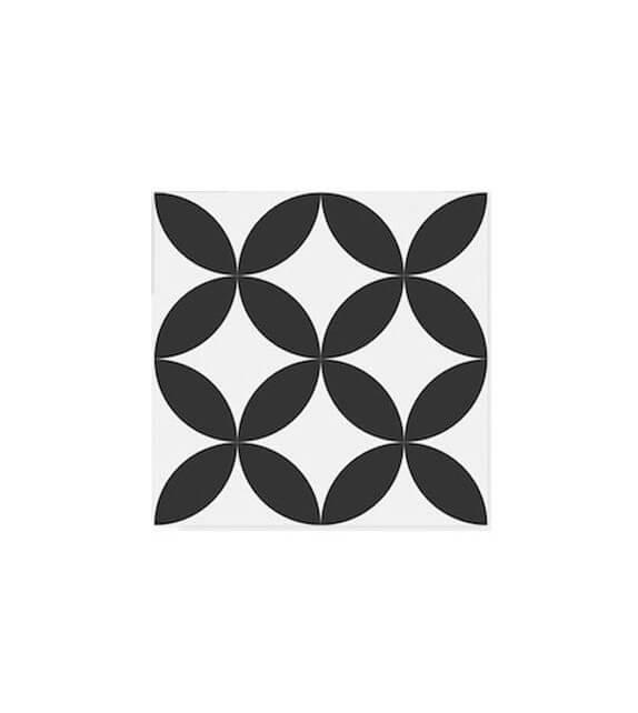 Echantillon carreaux ciment ellipse noire