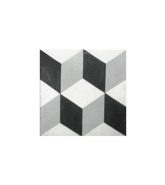 Echantillon carreaux ciment mosaïque 3D petits cubes