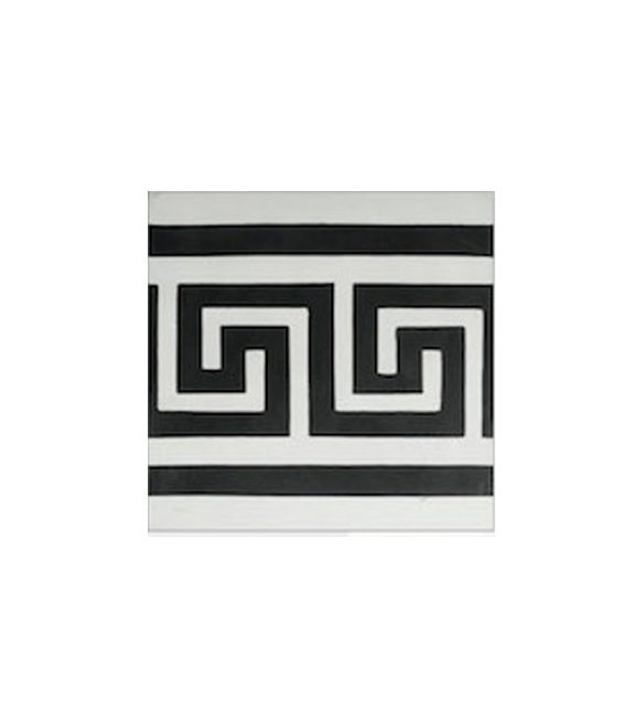 Echantillon carreaux ciment frise grecque
