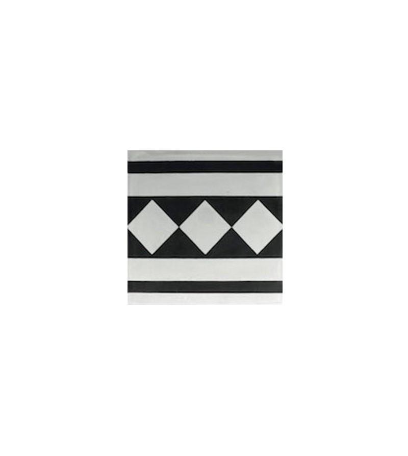 echantillon carreaux ciment frise damier tradicim l carreaux ciment de qualit petit prix. Black Bedroom Furniture Sets. Home Design Ideas