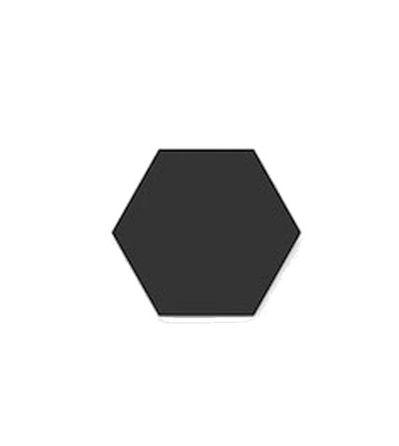Hexagone noir tradicim l carreaux ciment de qualit petit prix - Carreaux de ciment unis ...