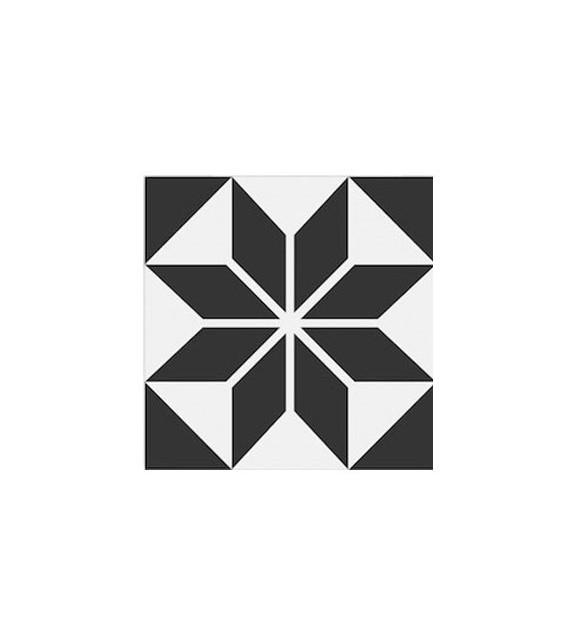 Echantillon carreaux ciment étoile noire