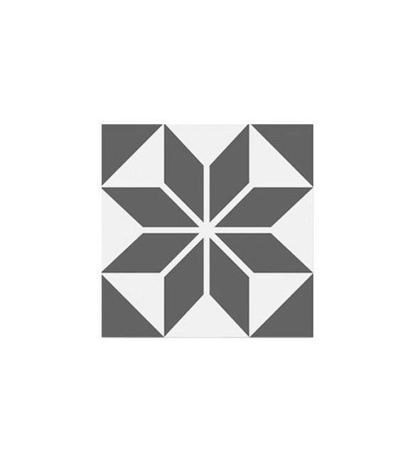 Echantillon carreaux ciment étoile grise
