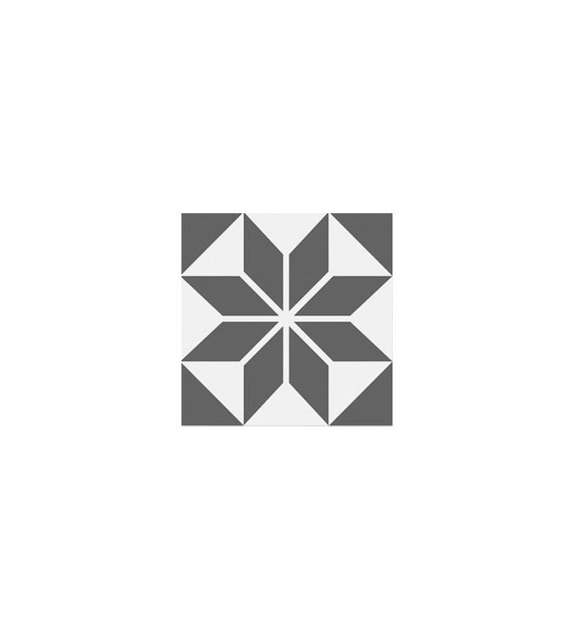 Echantillon carreaux ciment toile grise tradicim l - Carreaux ciment pas cher ...