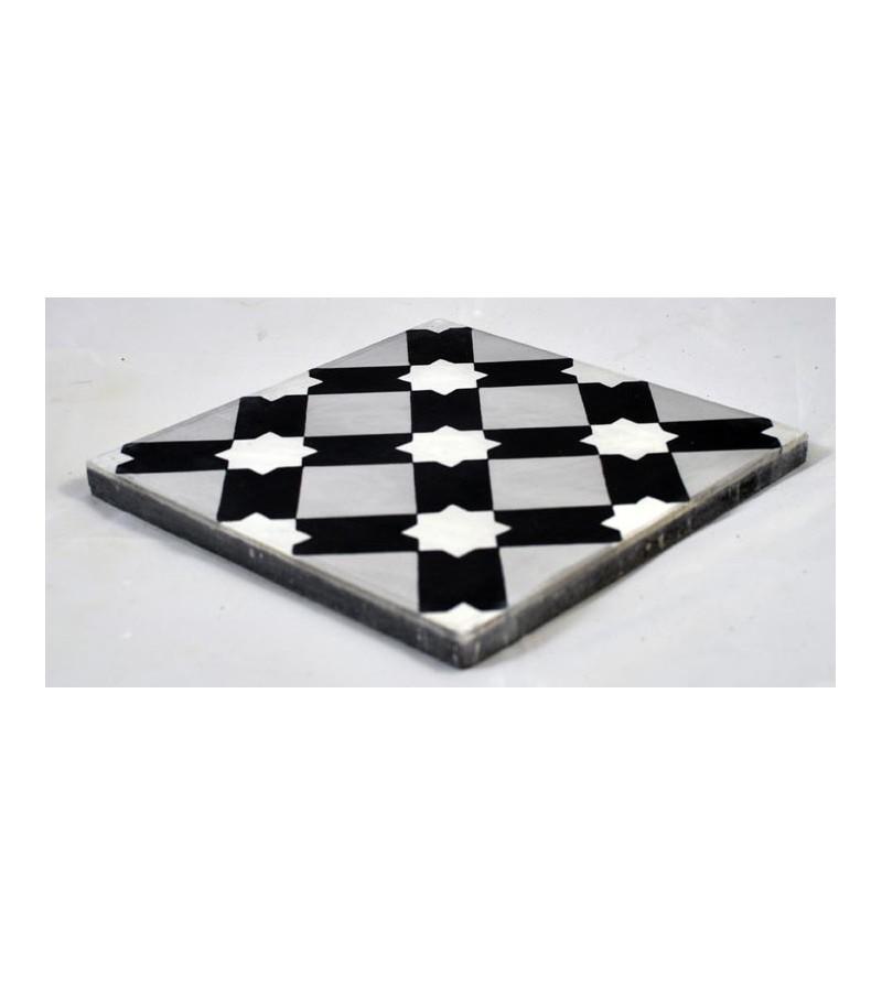 Etoile blanche tradicim l carreaux ciment de qualit for Toile ciree carreaux de ciment