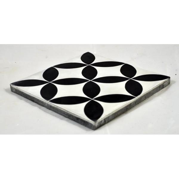 carreaux ciment ellipse noire fond blanc tradicim l carreaux ciment de qualit petit prix. Black Bedroom Furniture Sets. Home Design Ideas