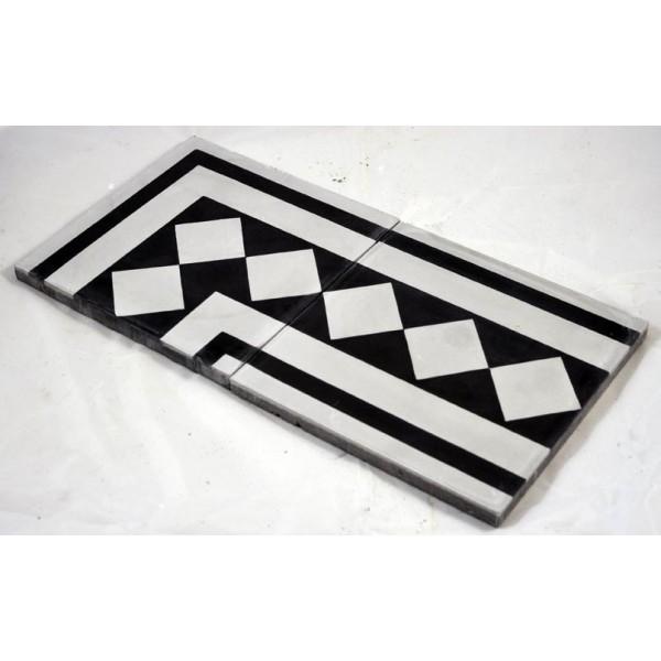 carreaux ciment frise damier tradicim l carreaux ciment. Black Bedroom Furniture Sets. Home Design Ideas