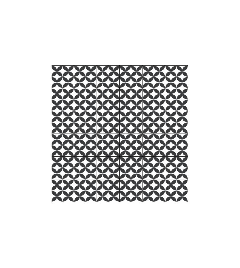 Carreaux ciment noir et blanc gallery of une salle de for Carreau transparent salle de bain