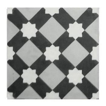 carreaux ciment etoile blanche tradicim l carreaux ciment de qualit petit prix. Black Bedroom Furniture Sets. Home Design Ideas